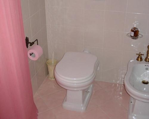 Bagno tutto rosa