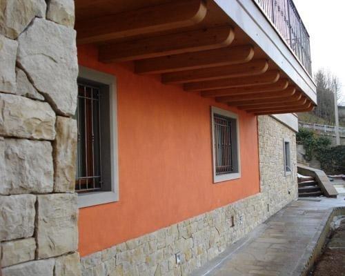 Mattonelle in pietre parete esterna
