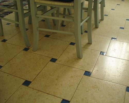 Mattonelle sala da pranzo in marmo