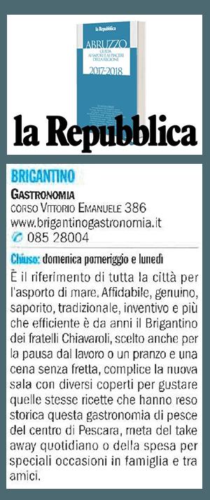 recensione ristorante su guida de La Repubblica