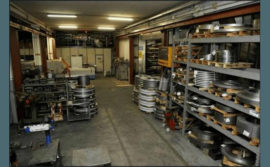 magazzino metalli lavorati