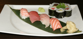 sushi salmone, sushi gambero, sushi branzino