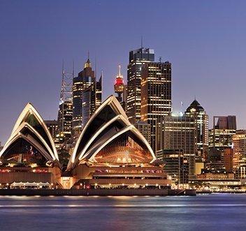 Illuminated opera house