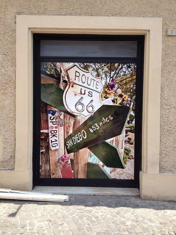 decorazione vetrata negozio