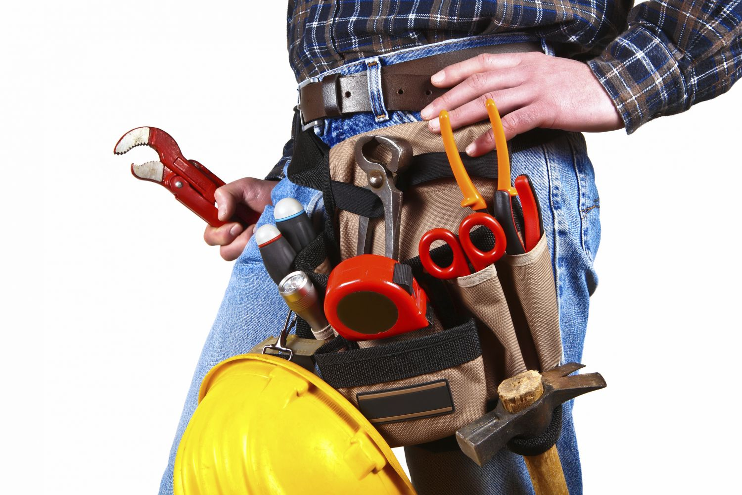Plumber with toolbelt in Lexington, NC
