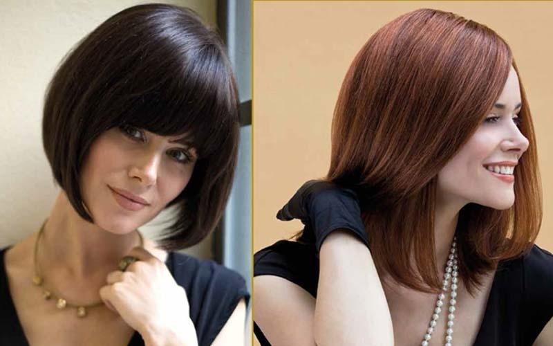 Due parrucche in veri capelli castani