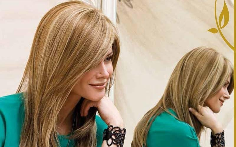Parrucca di capelli naturali biondi