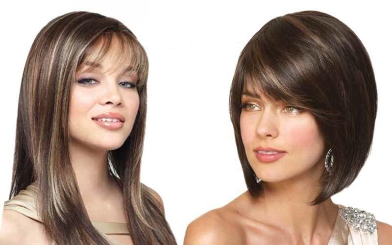 Due parrucche sintetiche con capelli medio-lunghi