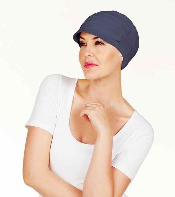 Turbante Fair Fashion blu senza nastri