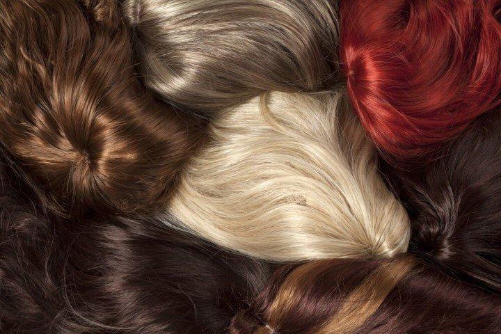 Ciocche di capelli sintetici in vari colori