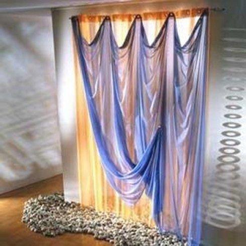 tenda interna in seta