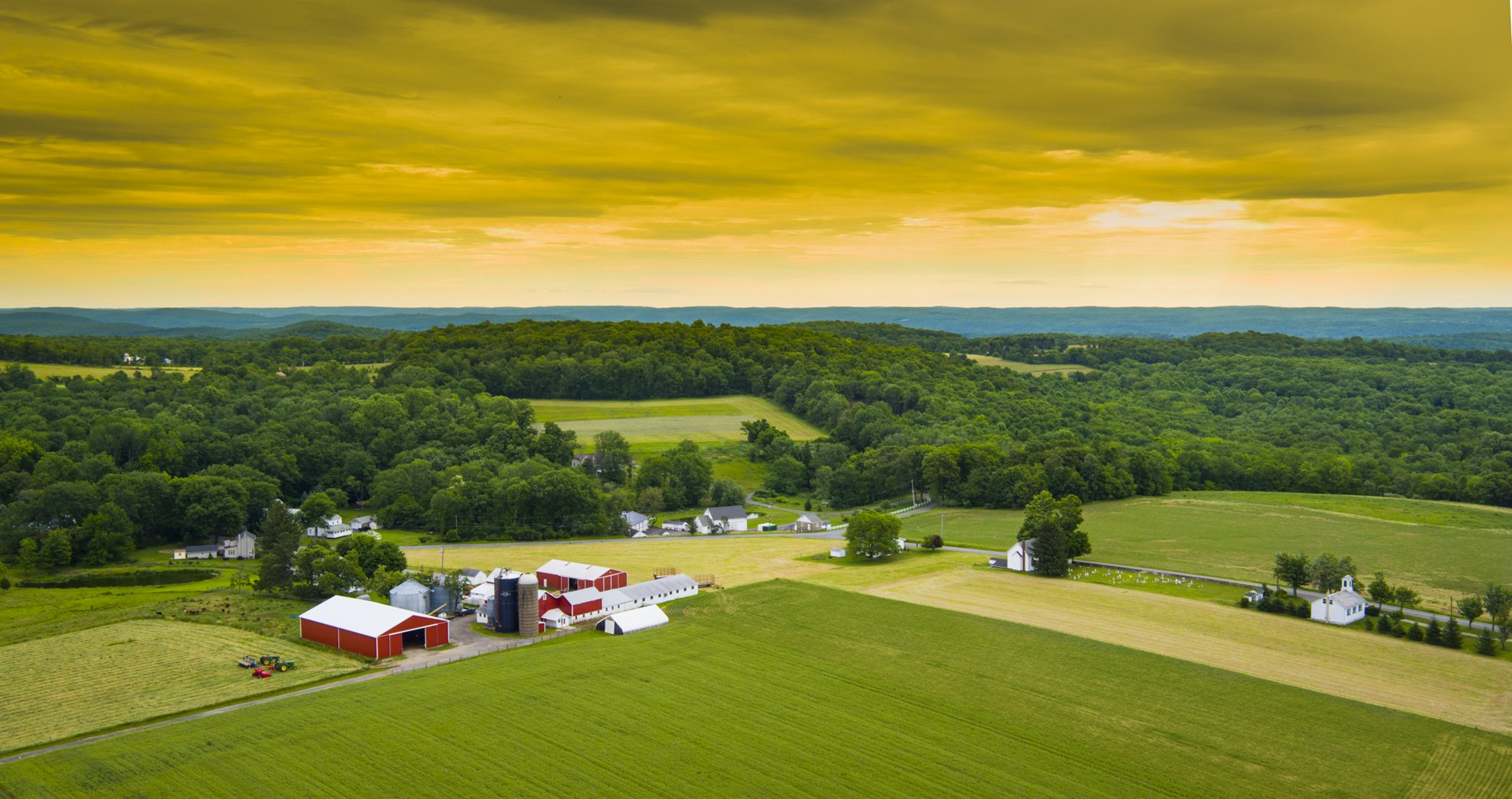 Aerial Drone Photography Of New Jersey Farm