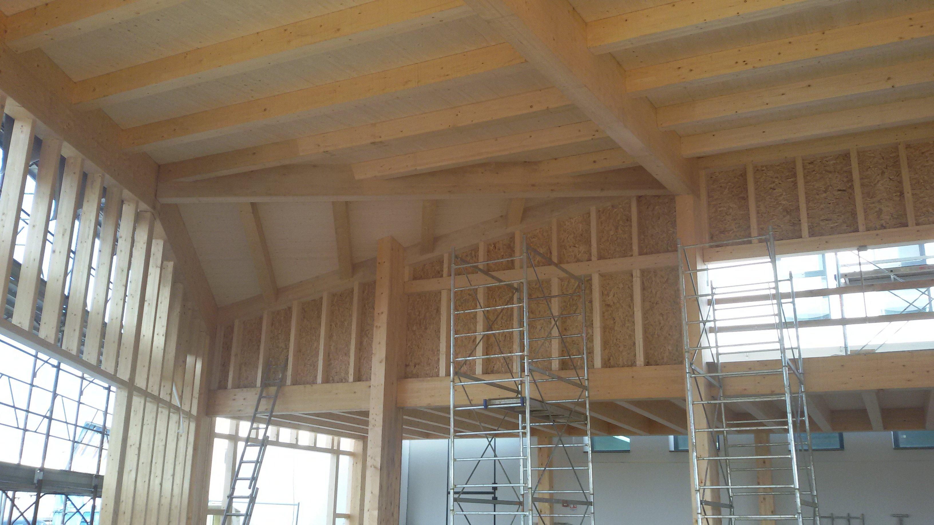 costruzione di una casa in legno