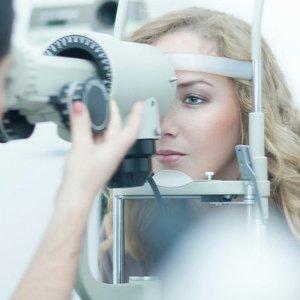 eye testing in progress