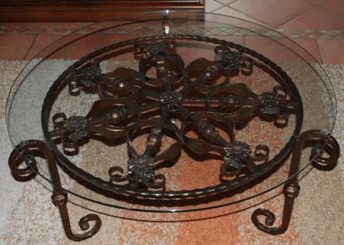 tavolino salotto ferro