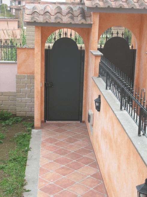 porta in ferro battuto