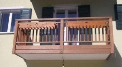 ringhiere balconi in legno