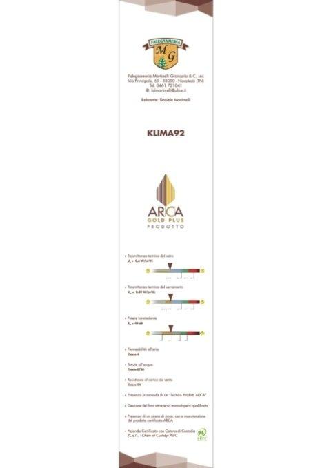 ARCA GOLD PLUS serramento certificato