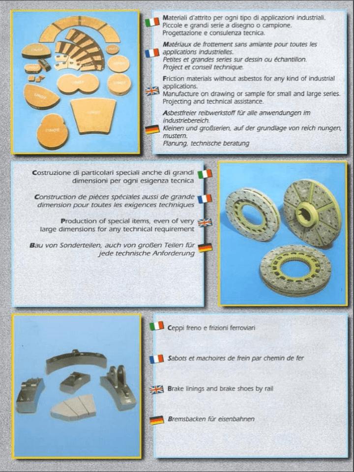 catalogo con tipologie di guarnizioni