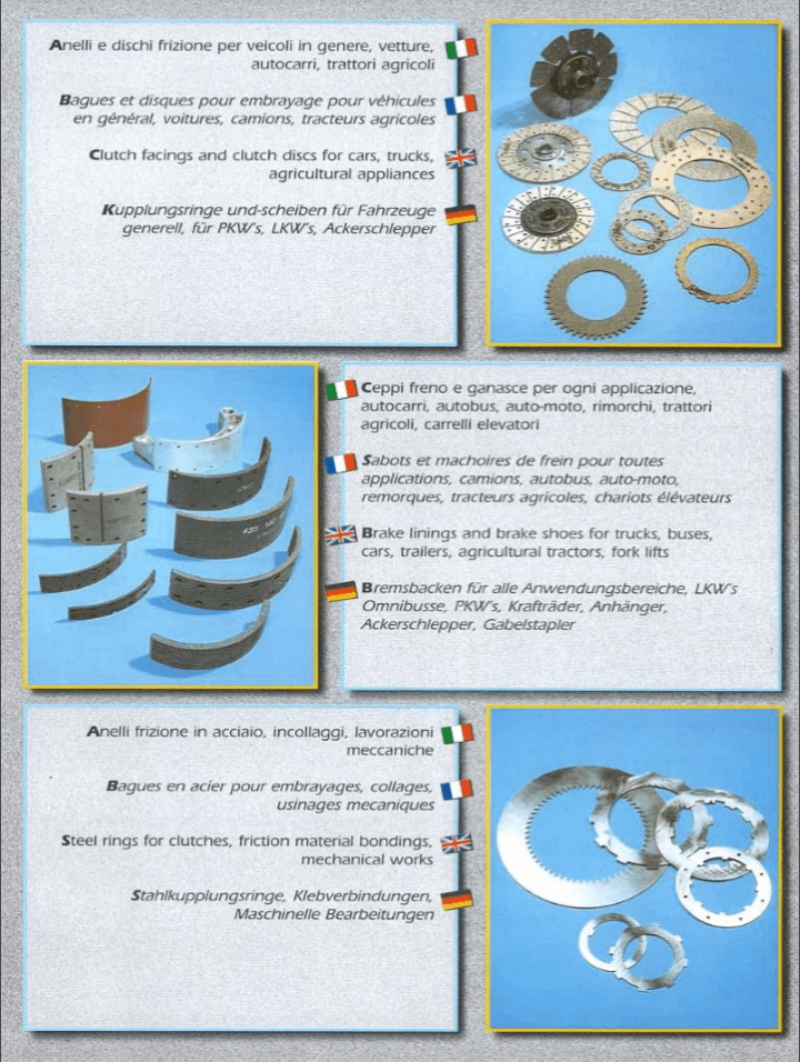 catalogo  delle componenti meccaniche per agricoltura