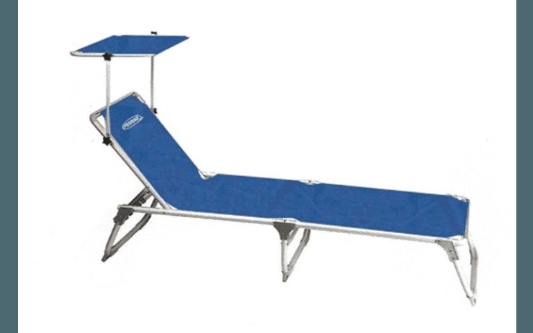 sdraio blu per campeggio