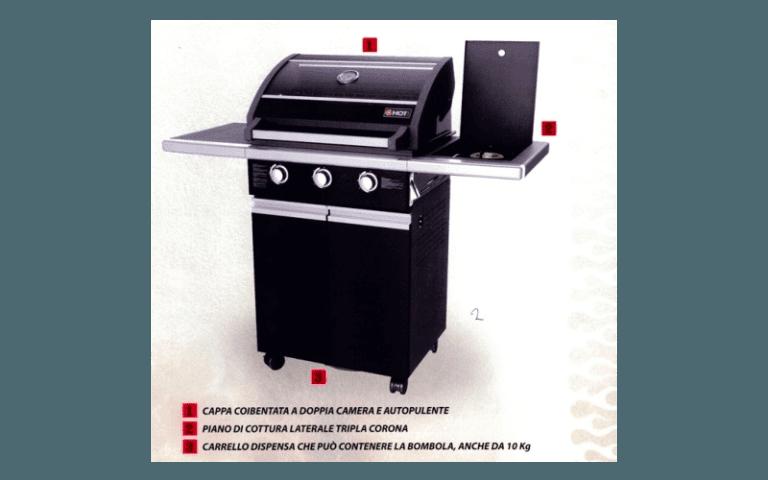 barbecue con piano cottura laterale