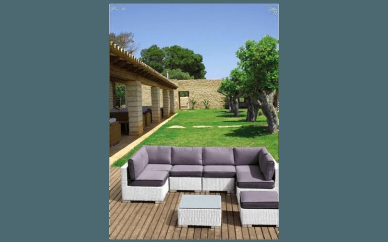 divano ad angolo per esterni