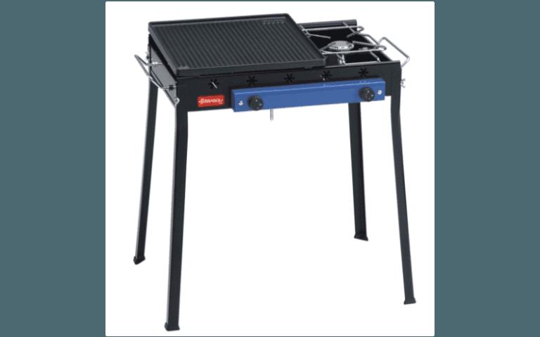 barbecue nero con piastra