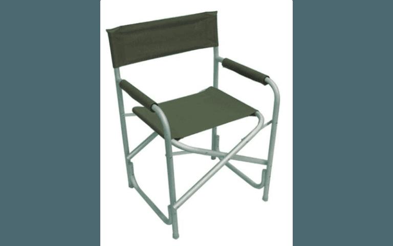 sedia verde per uso esterno