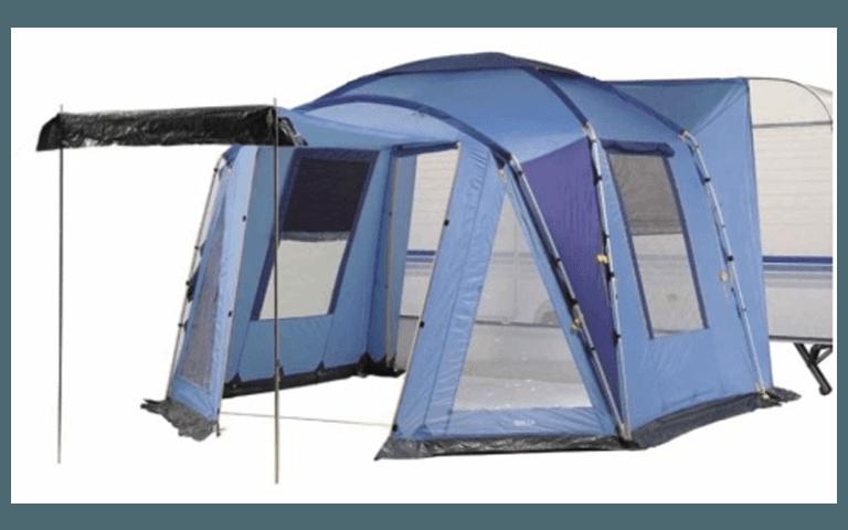 tenda con blu ad isolamento termico
