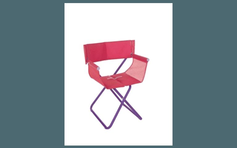 sedia da regista rosa per campeggio