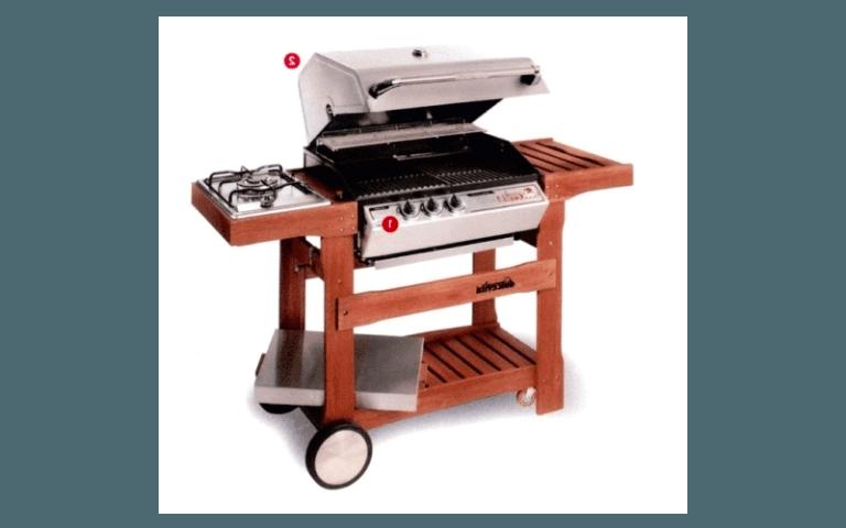 barbecue moderno in legno