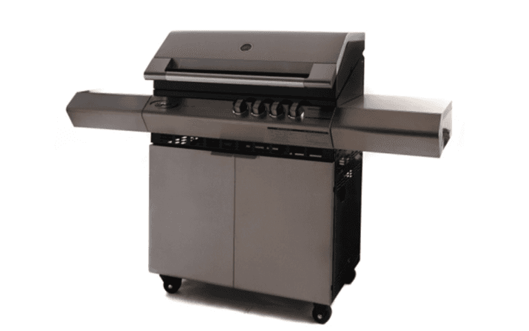 barbecue in acciaio nero