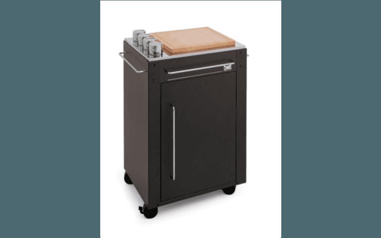barbecue moderno in acciaio nero