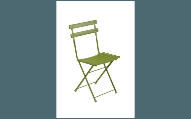 sedia verde in pvc per giardini