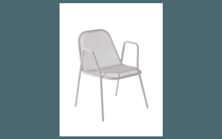 sedia grigia in ferro