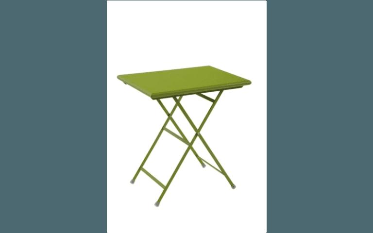 tavolino rettangolare verde per uso esterno