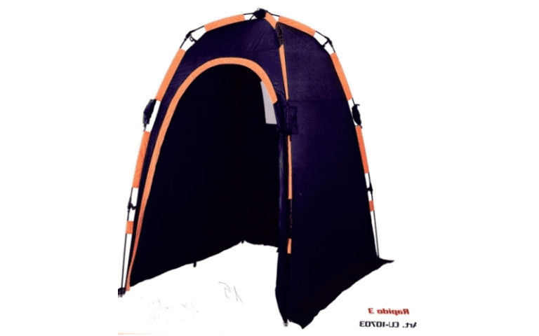 tenda a igloo con finiture viola