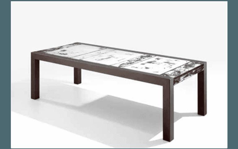 tavolo su misura in legno per esterni