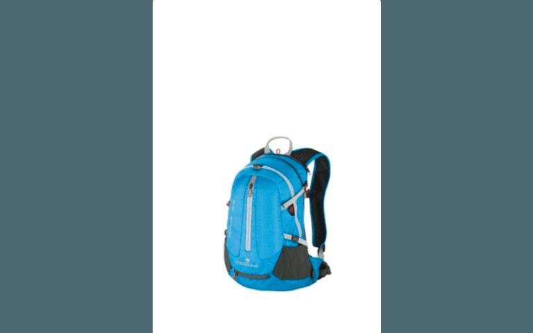 zaino da trekking di colore blu