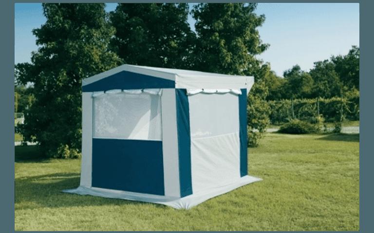 tenda quadrata bianca