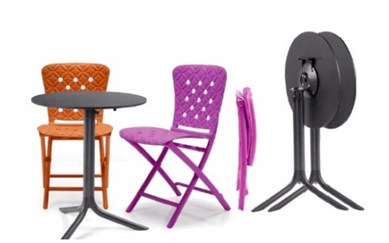 tavolini e sedie pieghevoli