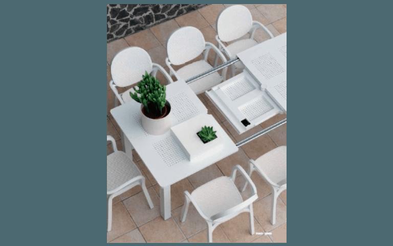 tavolino bianco allungabile
