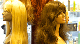 vendita di parrucche