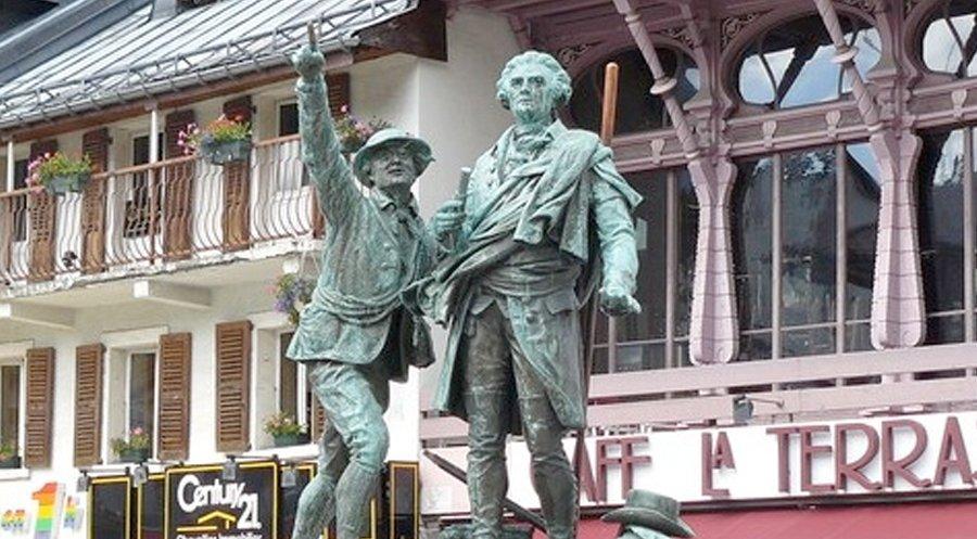 Chamonix statue