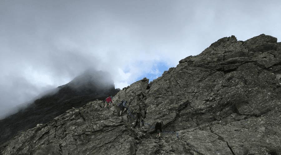 Descent of the Col Crosatie