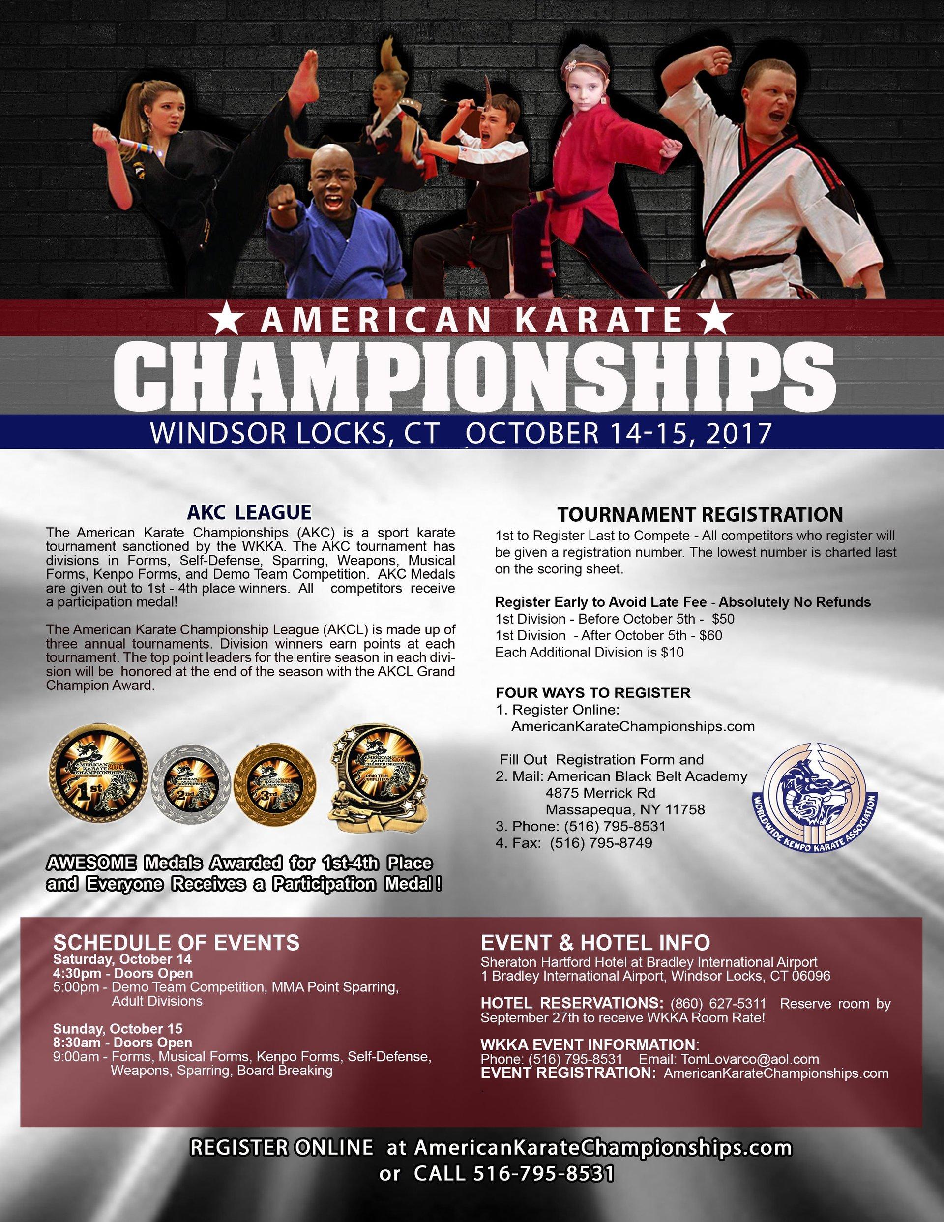 Karate Tournament in Windsor Locks, CT