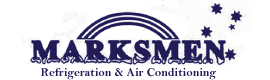 marksmen refrigeration and air conditioning business logo