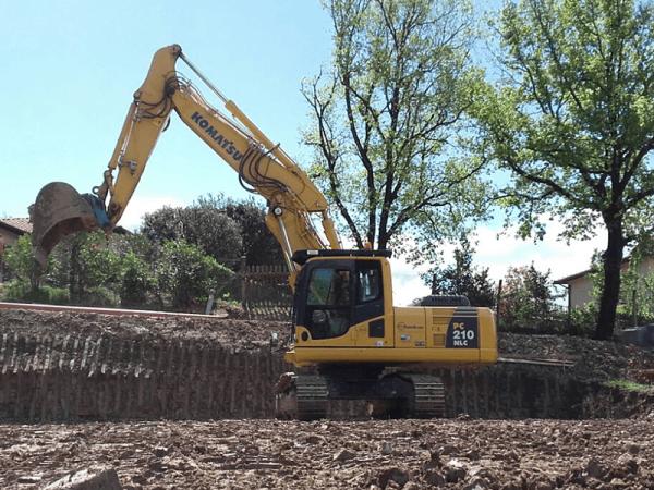 noleggio escavatore