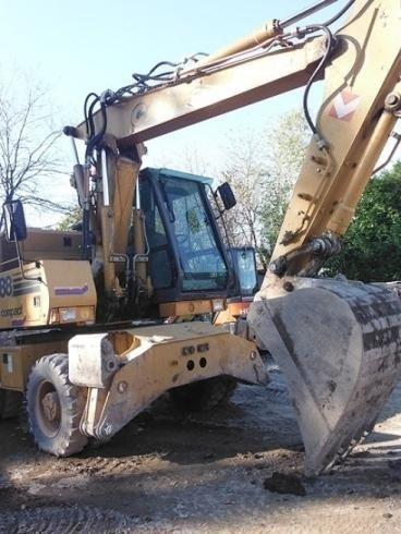 escavatore ruote